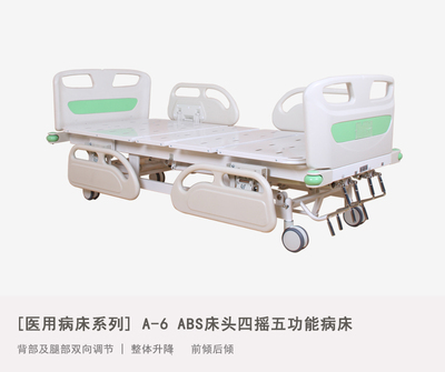 A-6 Five Function Hospital Bed With ABS Bed Head