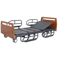 A-29 Ultra-low Electric Hospital Bed with Wooden Bed Head