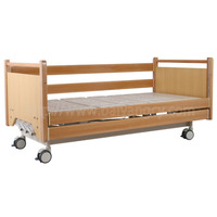 A-189 Three-function Manual Nursing Bed with Wood Bed Head