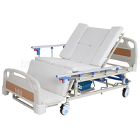 A-192(A) Multifunctional Manual Turn-over Nursing Bed with ABS Bed Head