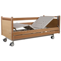 A-182 Three-function Electric Nursing Bed with Wood Bed Head